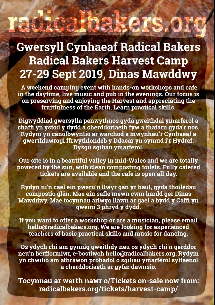 radical bakers harvest camp poster
